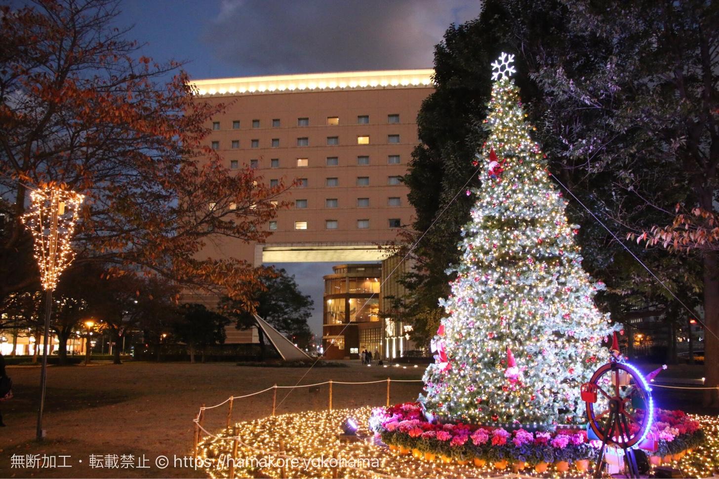 横浜ワールドポーターズ クリスマスツリー 運河パーク