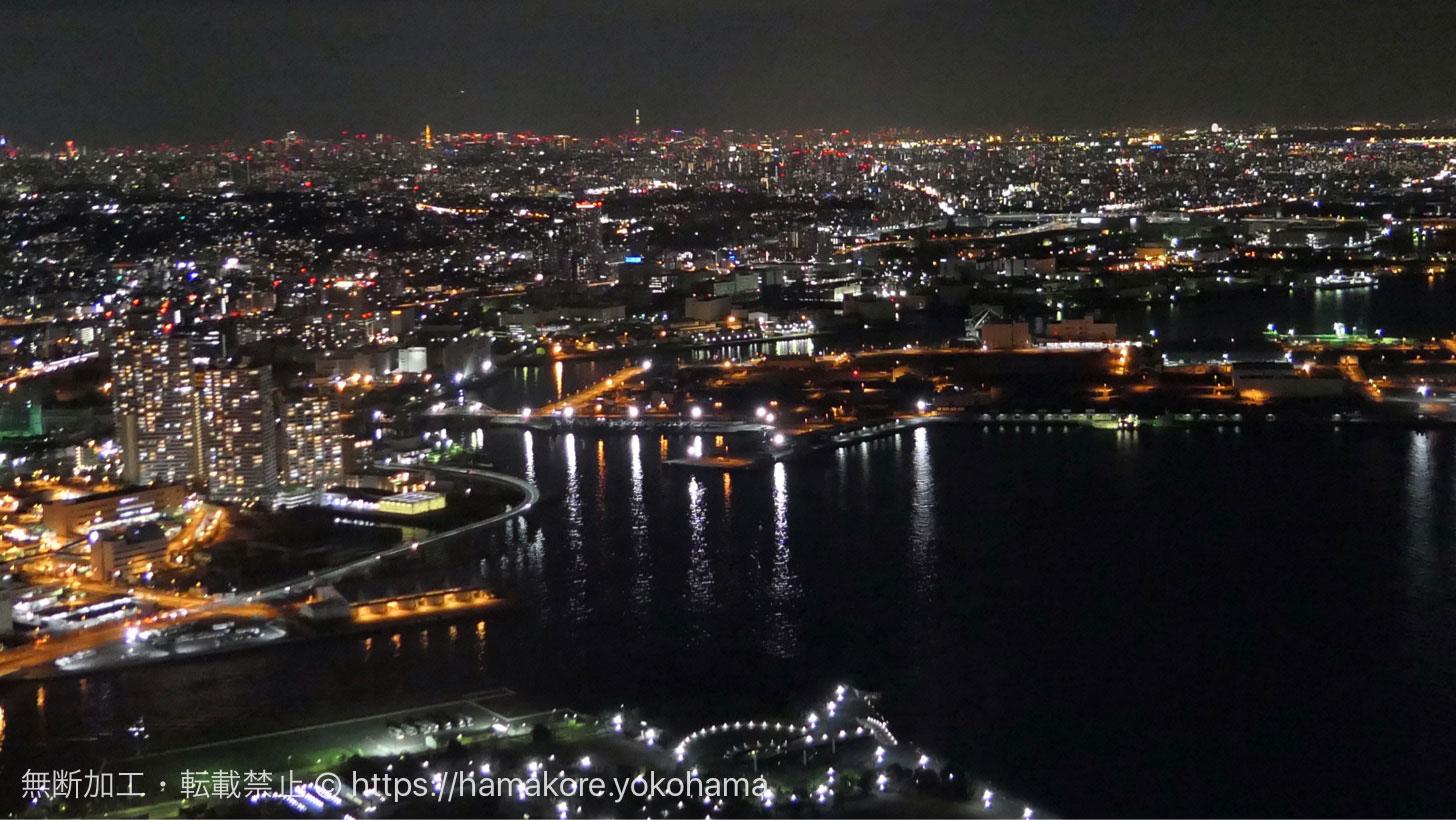 スカイラウンジ シリウス テーブル席から見た夜景