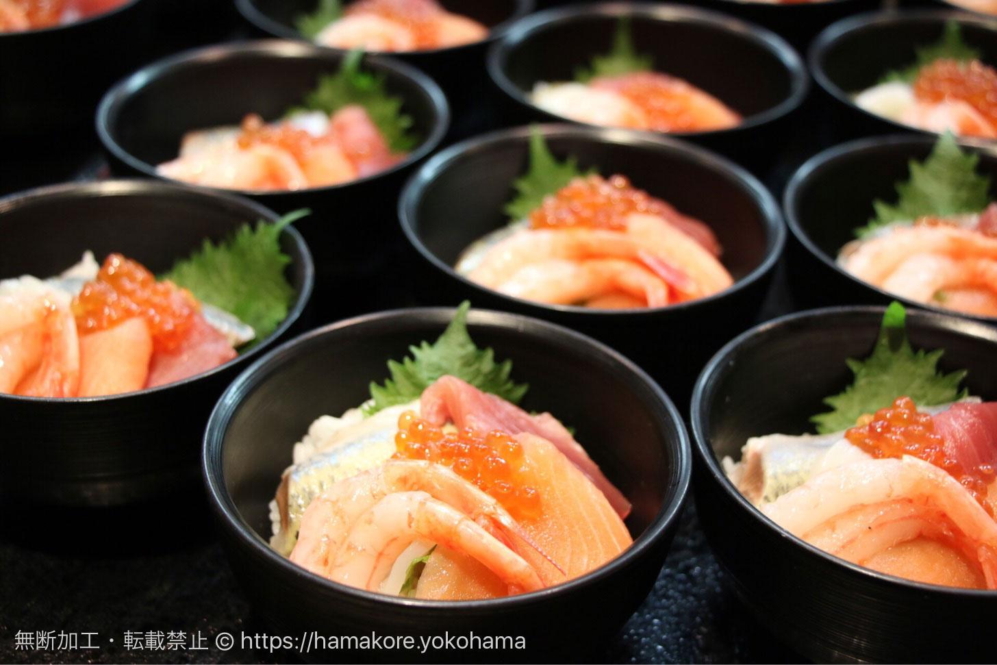 北海づくしの海鮮丼