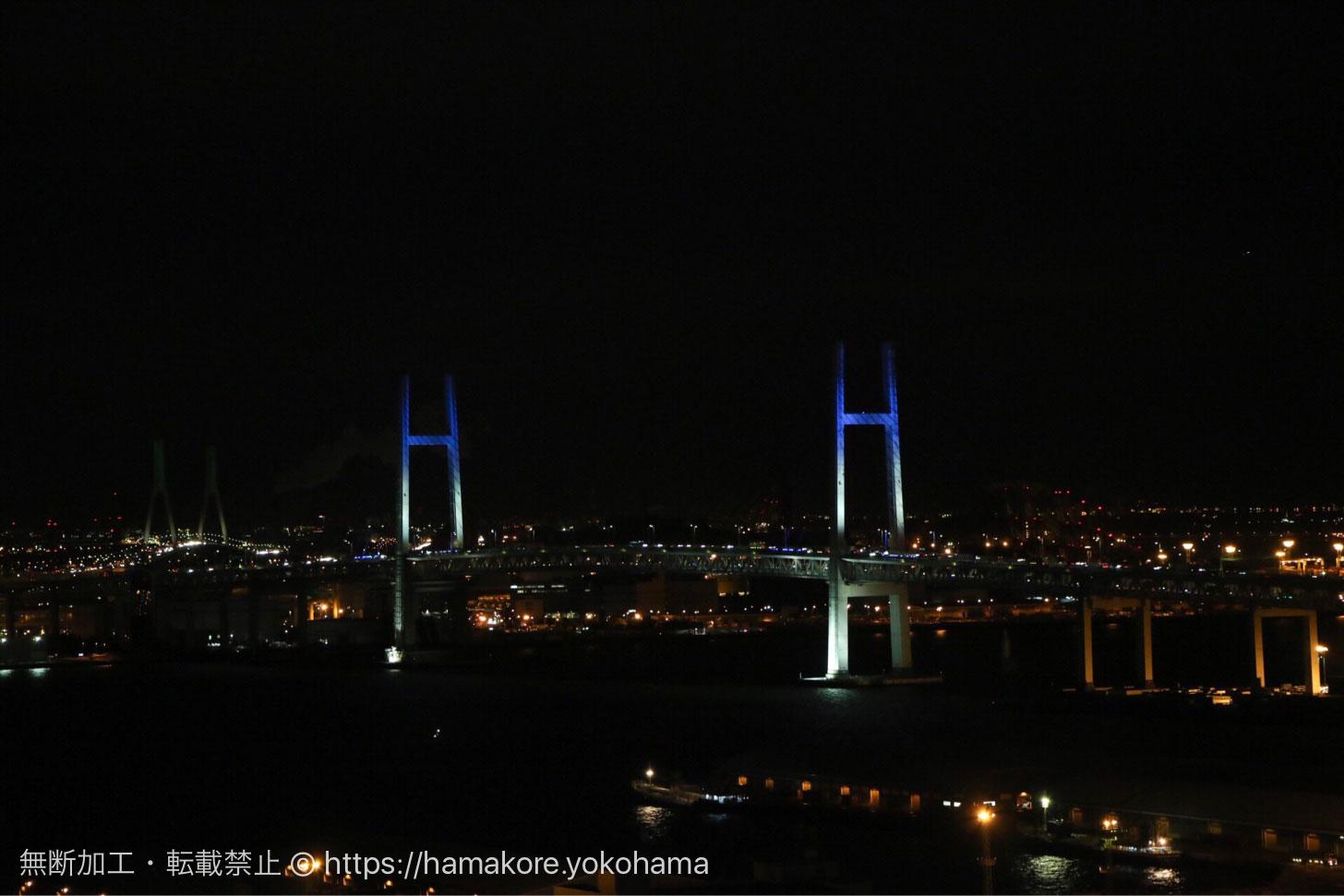 横浜マリンタワーから見た夜景 横浜ベイブリッジ