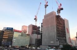 2018年1月 横浜駅西口 駅ビル完成までの様子