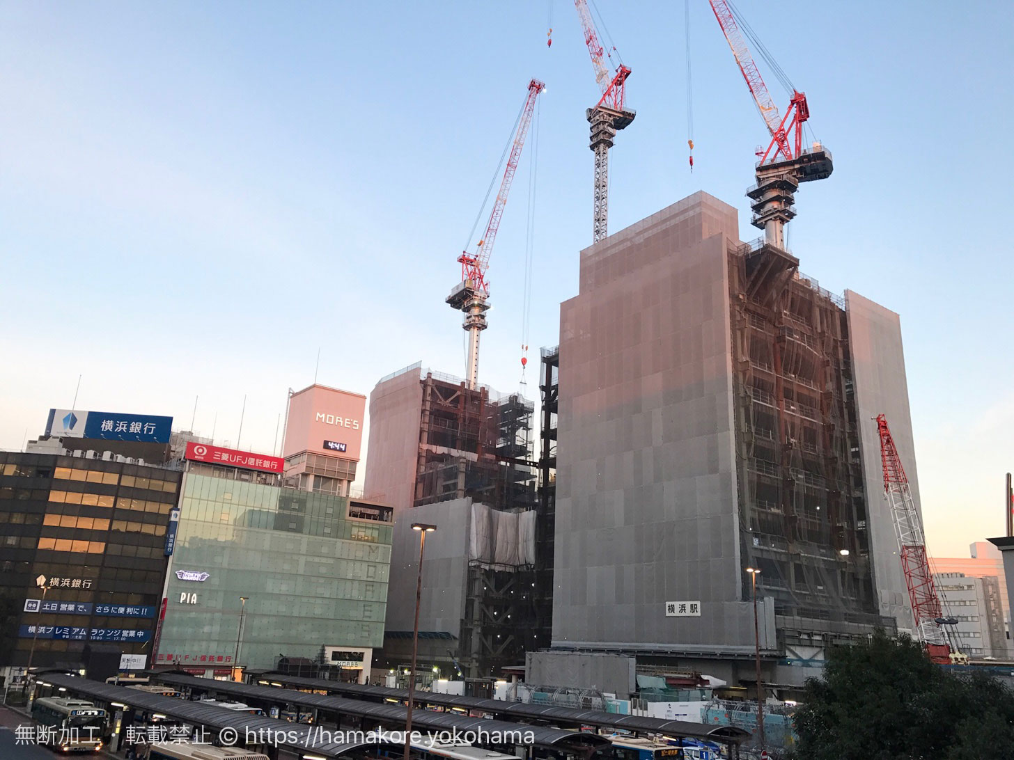 2018年1月 横浜駅西口の様子