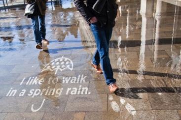 MARINE & WALK YOKOHAMAに濡れると現れるフォトジェニックアート「レインワークス」が登場!