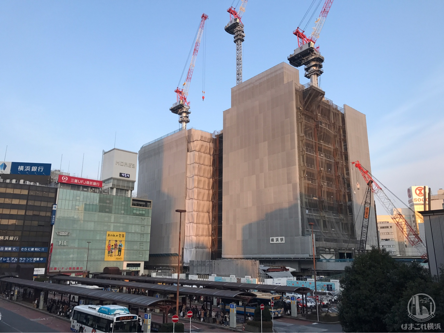 2018年2月 横浜駅西口の様子