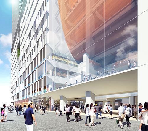 西口駅前広場側外観 イメージ