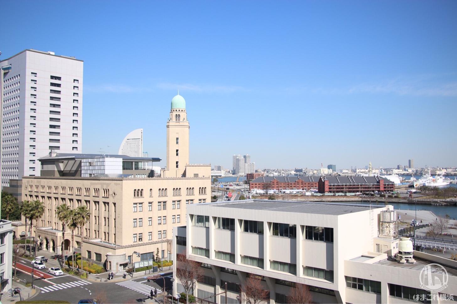 神奈川県庁 展望台が穴場無料フォトスポット!キングの塔から見るクイーンとジャック