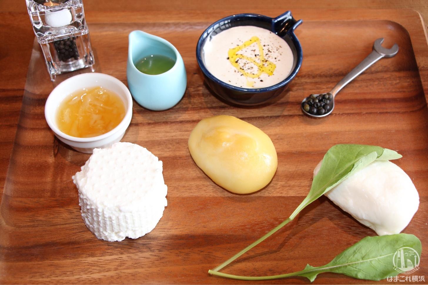 自家製チーズプラッター