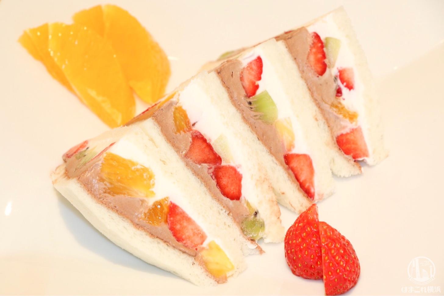 フルーツチョコサンドウィッチ(750円)