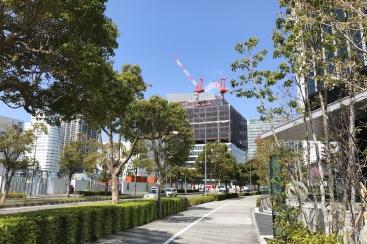 みなとみらいの街並みで一際工事が進む 「資生堂」のビルに注目!