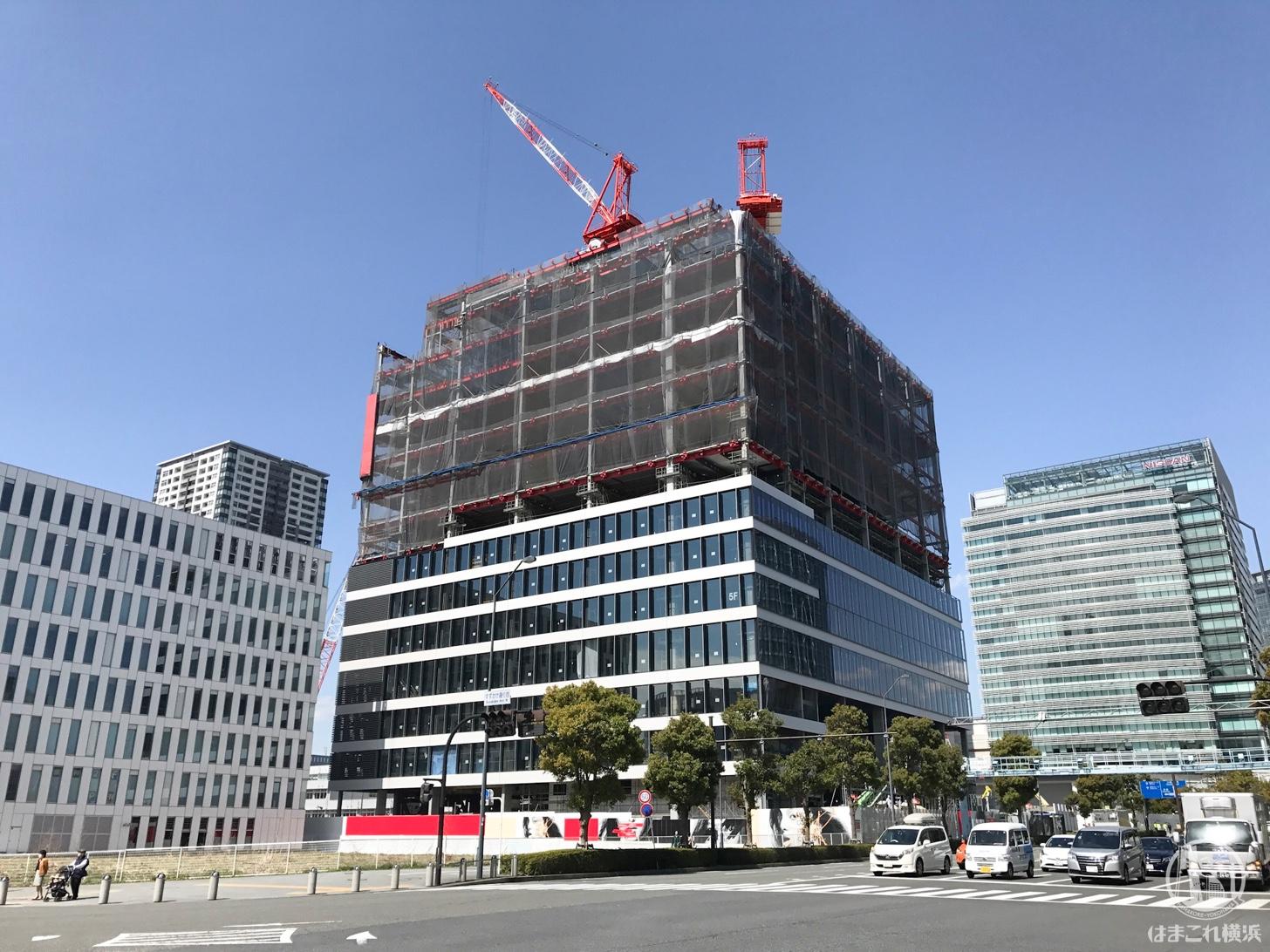 建設中の資生堂新研究所