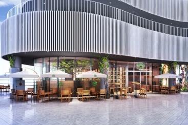 アースカフェ 横浜ベイクォーター店、世界初のディナーとアルコールメニューを提供!