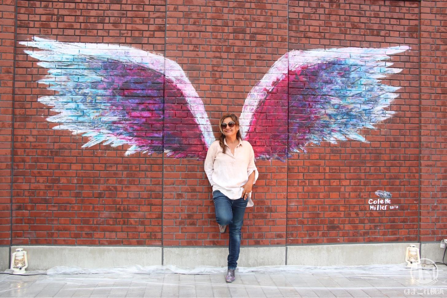 先に描かれた天使の羽(エンジェルウィングス)