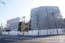 ドン・キホーテ山下公園跡地「(仮称)新山下商業施設」完成までの様子 2018年4月撮影