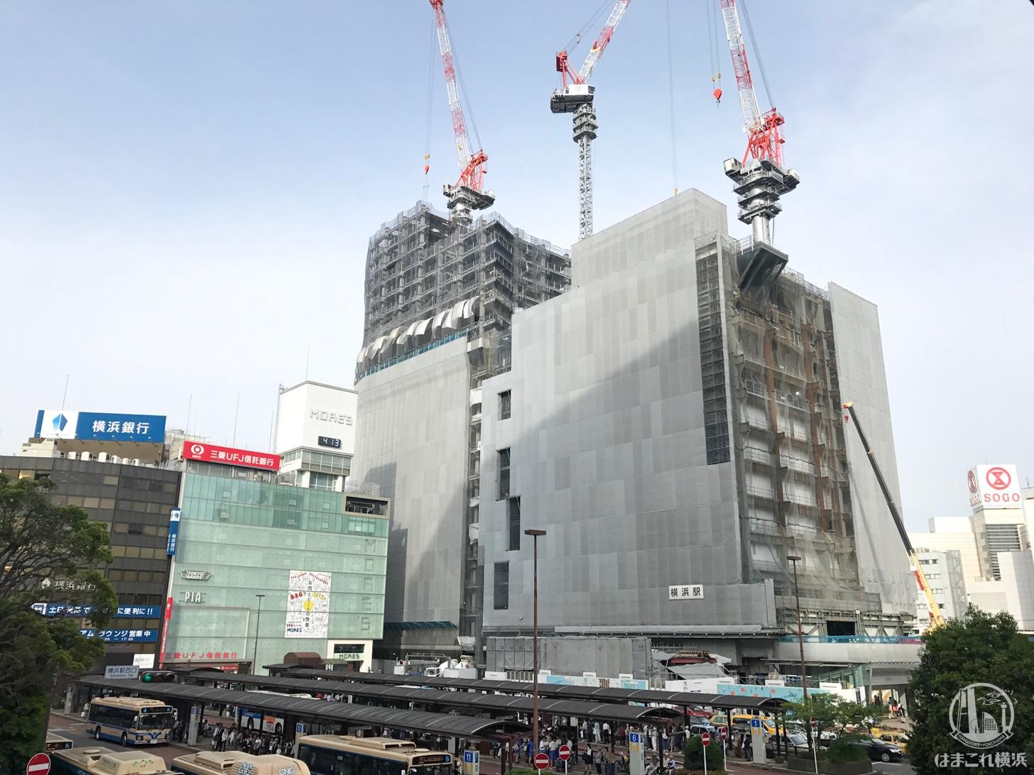 2018年5月 横浜駅西口の様子