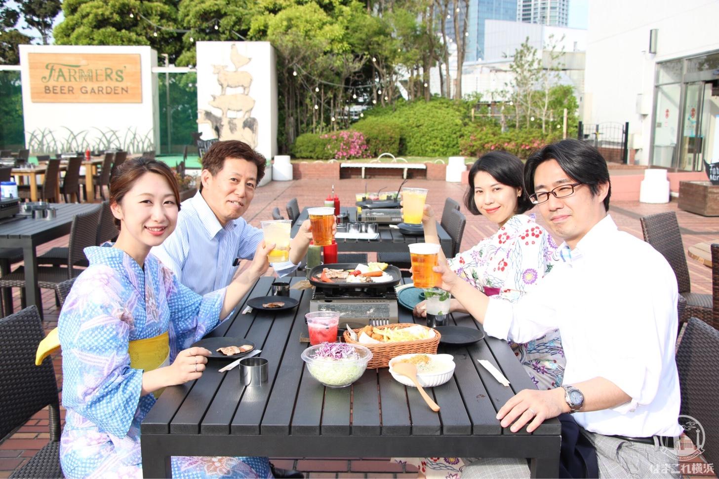2018年 横浜高島屋屋上に「ファーマーズビアガーデン」がオープン!新鮮野菜揃うビアガーデン