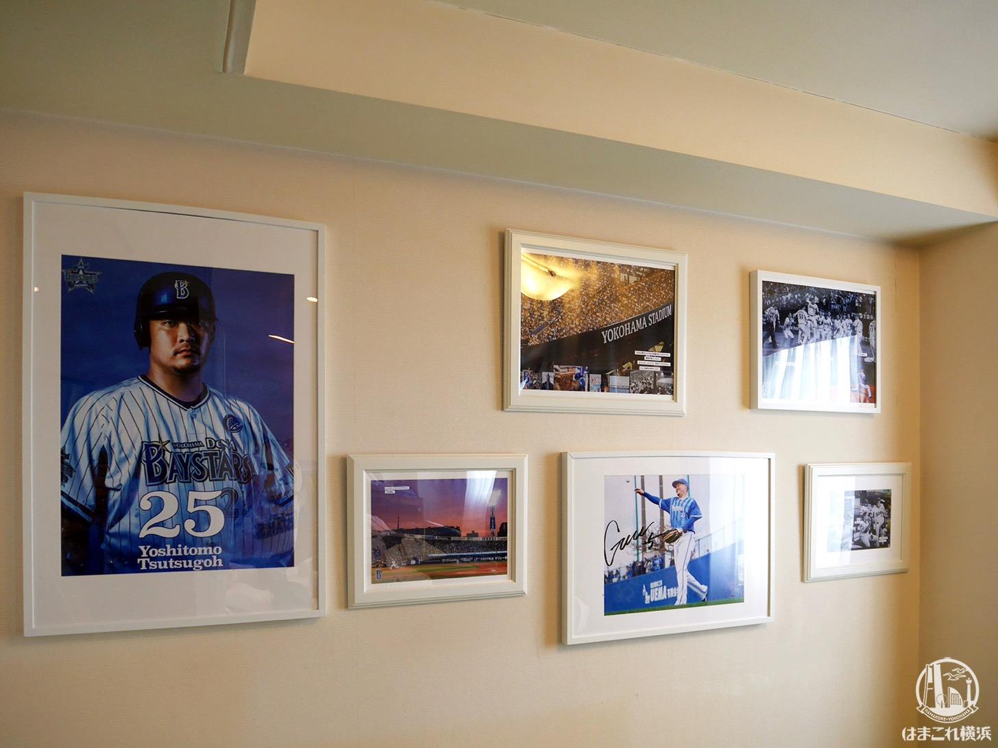 横浜スタジアムの歴史などを記した写真