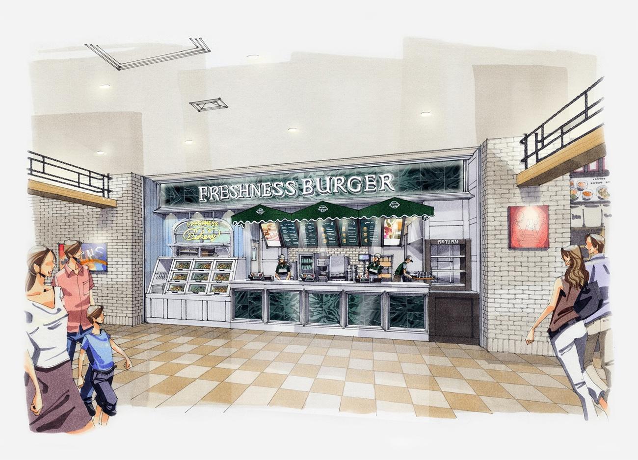 フレッシュネスバーガー 横浜にベーカリー併設の新業態バーガーカフェを7月にオープン マークイズ みなとみらい