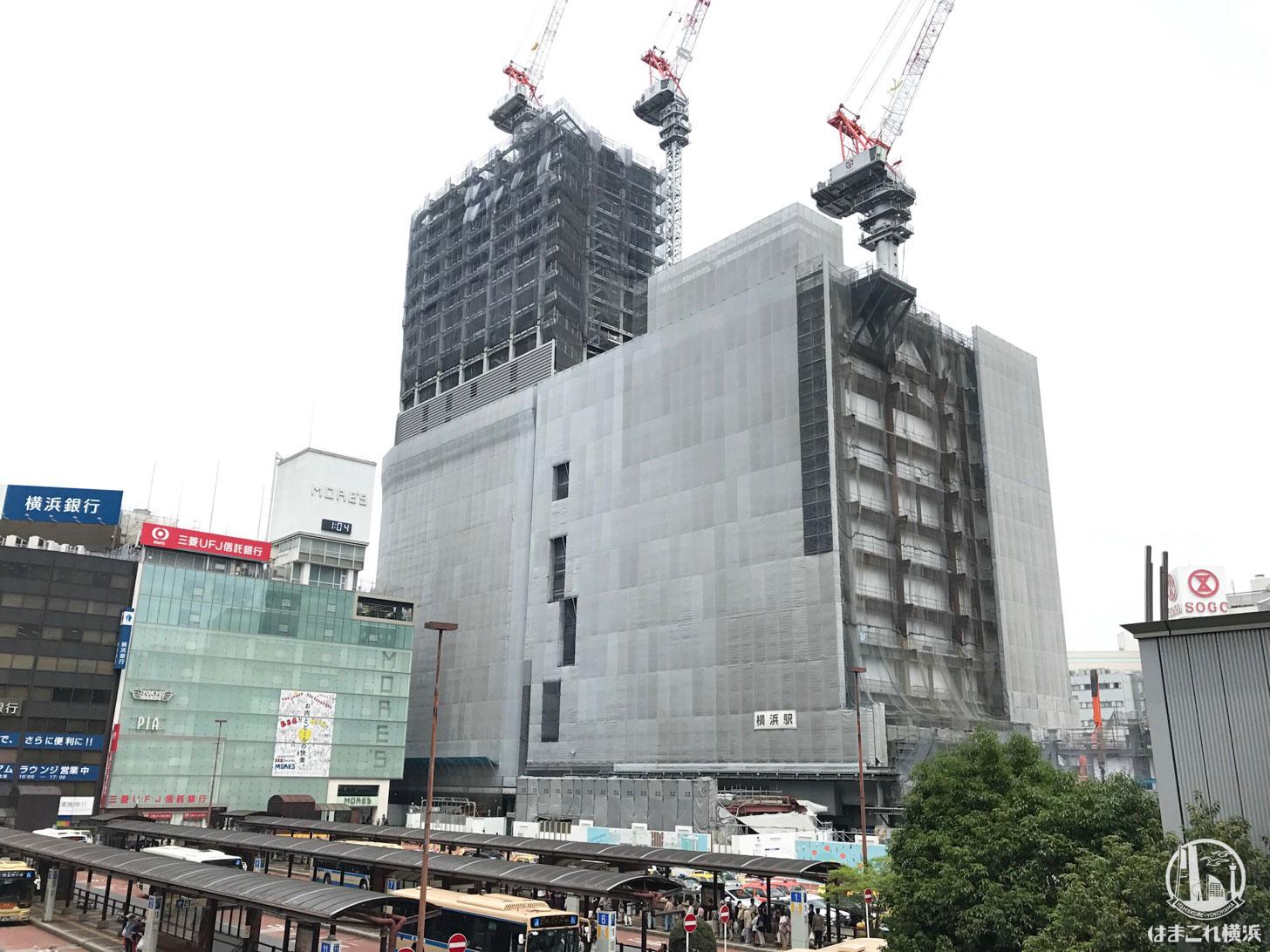 2018年6月 横浜駅西口の様子