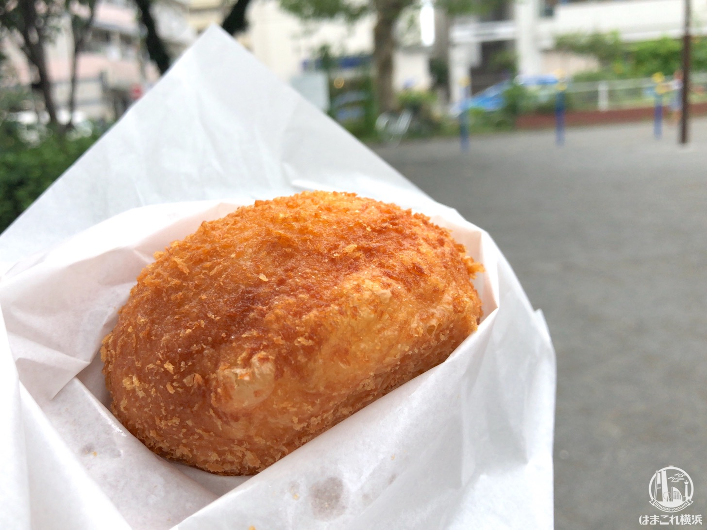松原商店街「サン ペルル」の半熟玉子カレーパンは食べ歩き・お土産におすすめ!看板メニュー