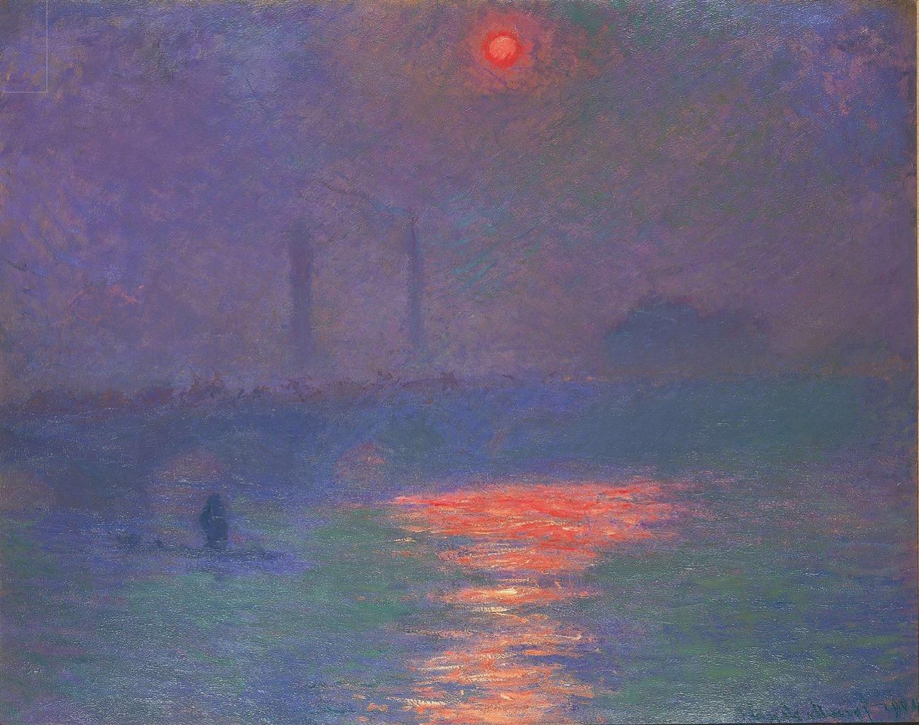 クロード・モネ《霧の中の太陽》1904年 個人蔵