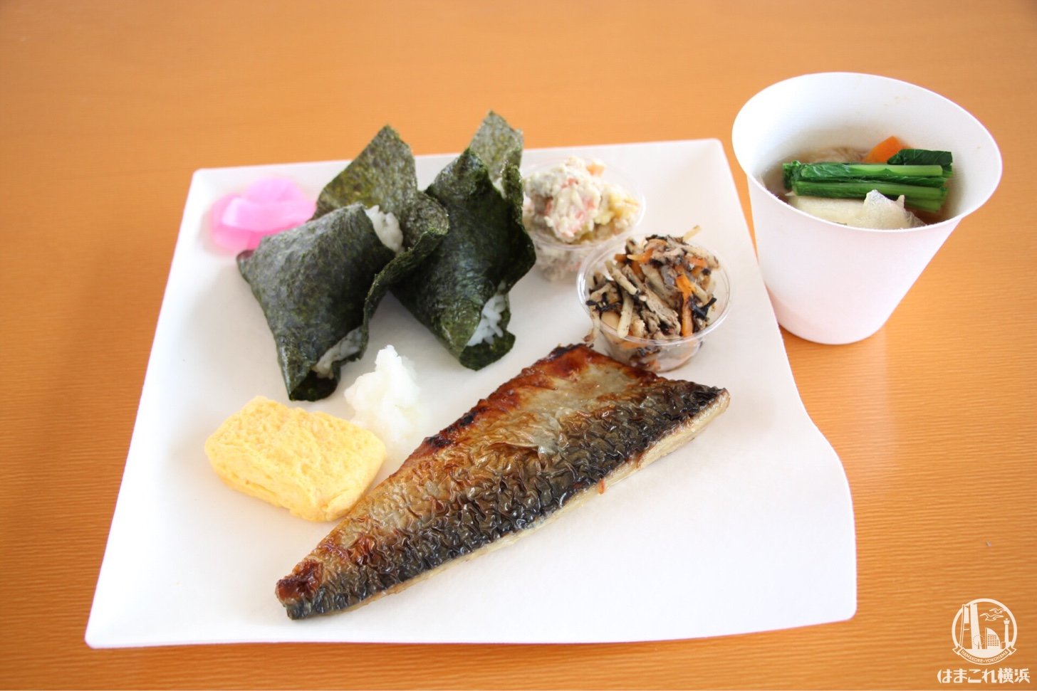 神奈川米を使用したおにぎり朝食