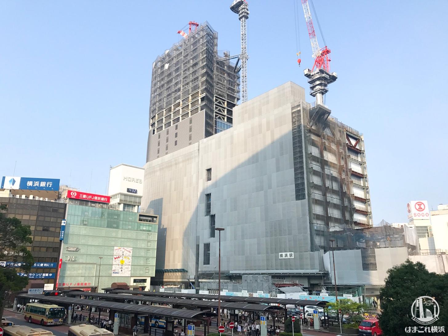2018年7月 横浜駅西口の様子