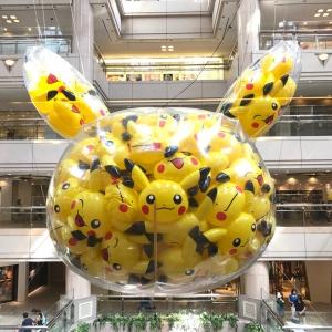 2018年 ピカチュウ大量発生チュウ!のピカチュウバルーンが横浜ランドマークに登場