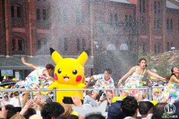 2018年 ピカチュウ「ずぶぬれスプラッシュショー」中央ステージ設置でずぶぬれ覚悟!