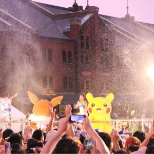 2018年 ピカチュウ夜の「ずぶぬれスプラッシュショー」は大放水でテンション上がる!!!