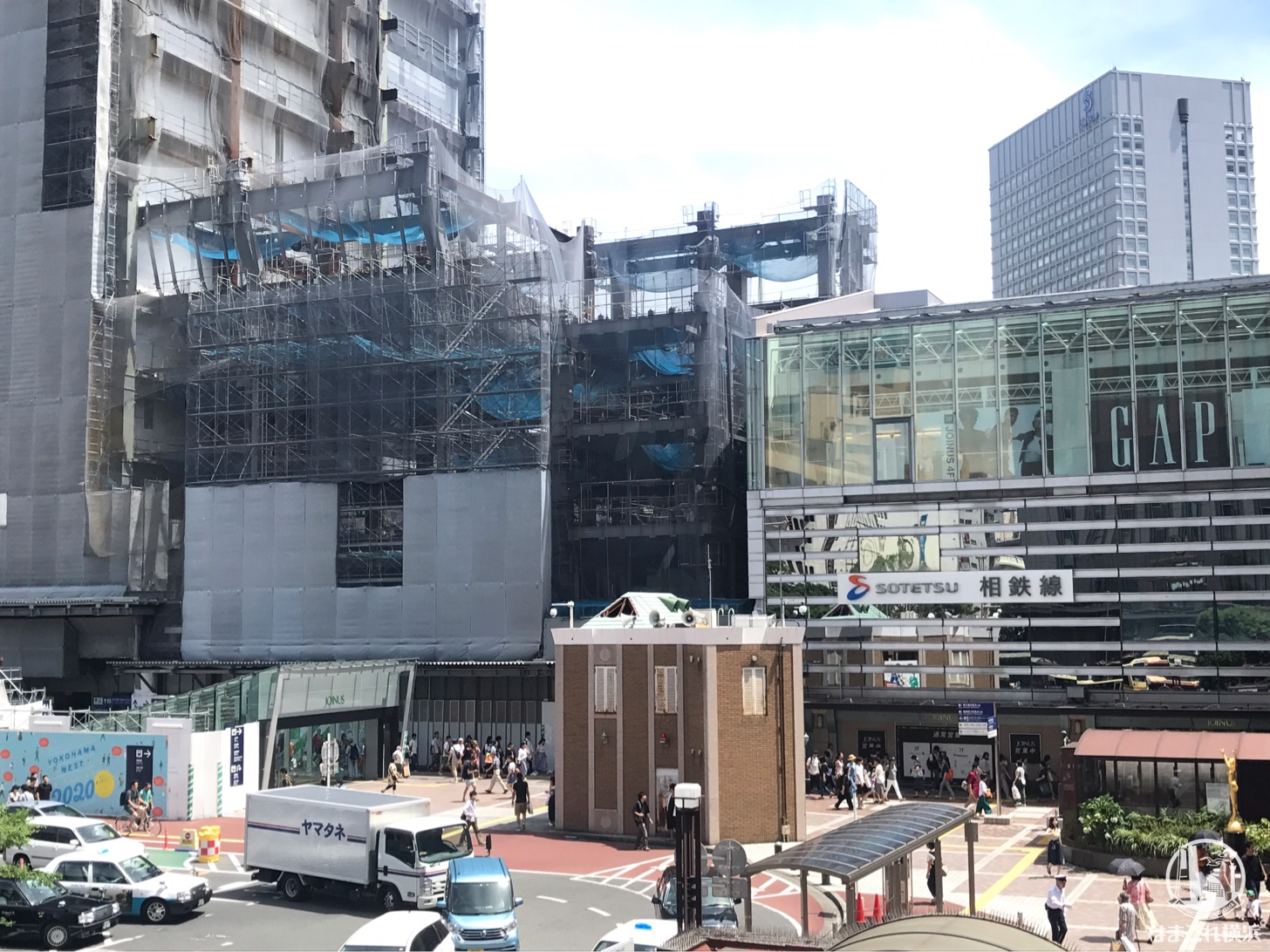 2018年8月 横浜駅西口の様子