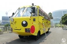 2018年 水陸両用バスがピカチュウラッピングで運行開始!ピカチュウ大量発生
