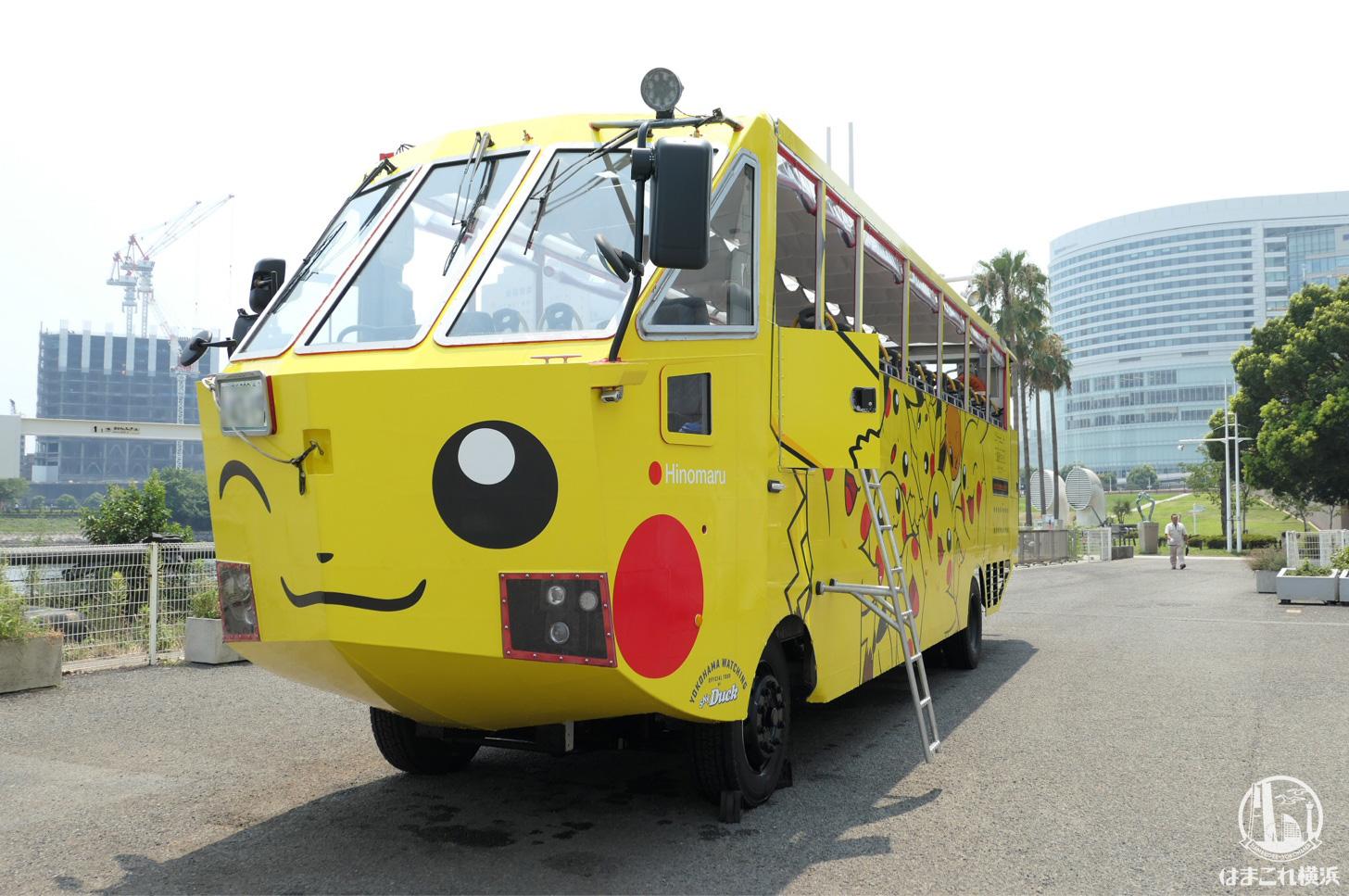 2018年 水陸両用バスがピカチュウラッピングで運行開始 !ピカチュウ大量発生