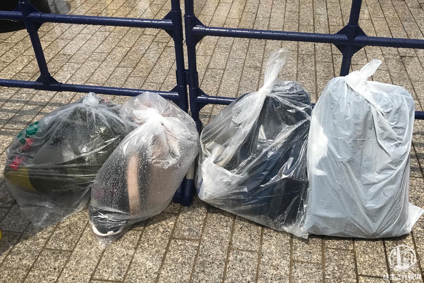 ゴミ袋に荷物