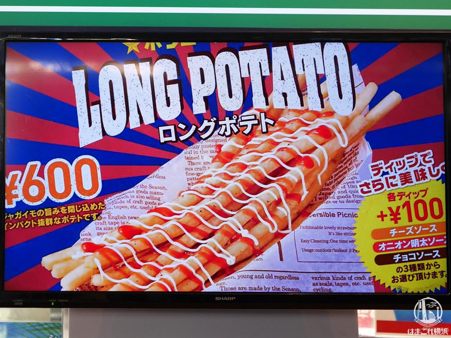 ロングポテト(600円)
