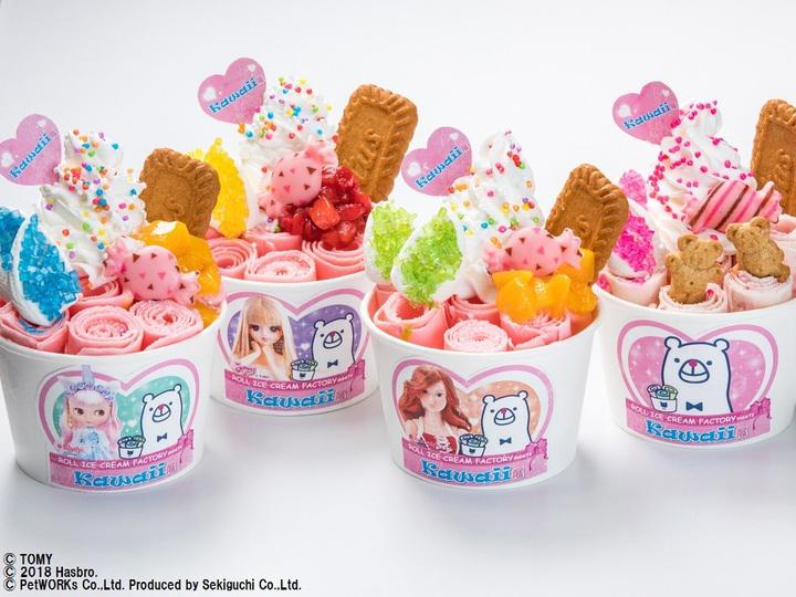 ロールアイスクリームファクトリー、横浜人形の家「Kawaii展」でオリジナル限定メニュー提供