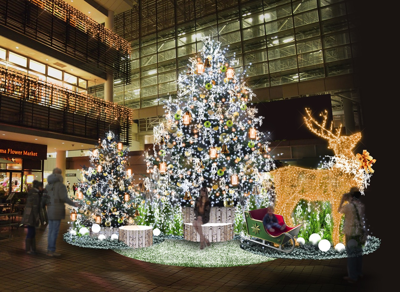 横浜「たまプラーザ テラス」に首都圏最大級・高さ7メートルのトナカイオブジェがクリスマスに初登場!
