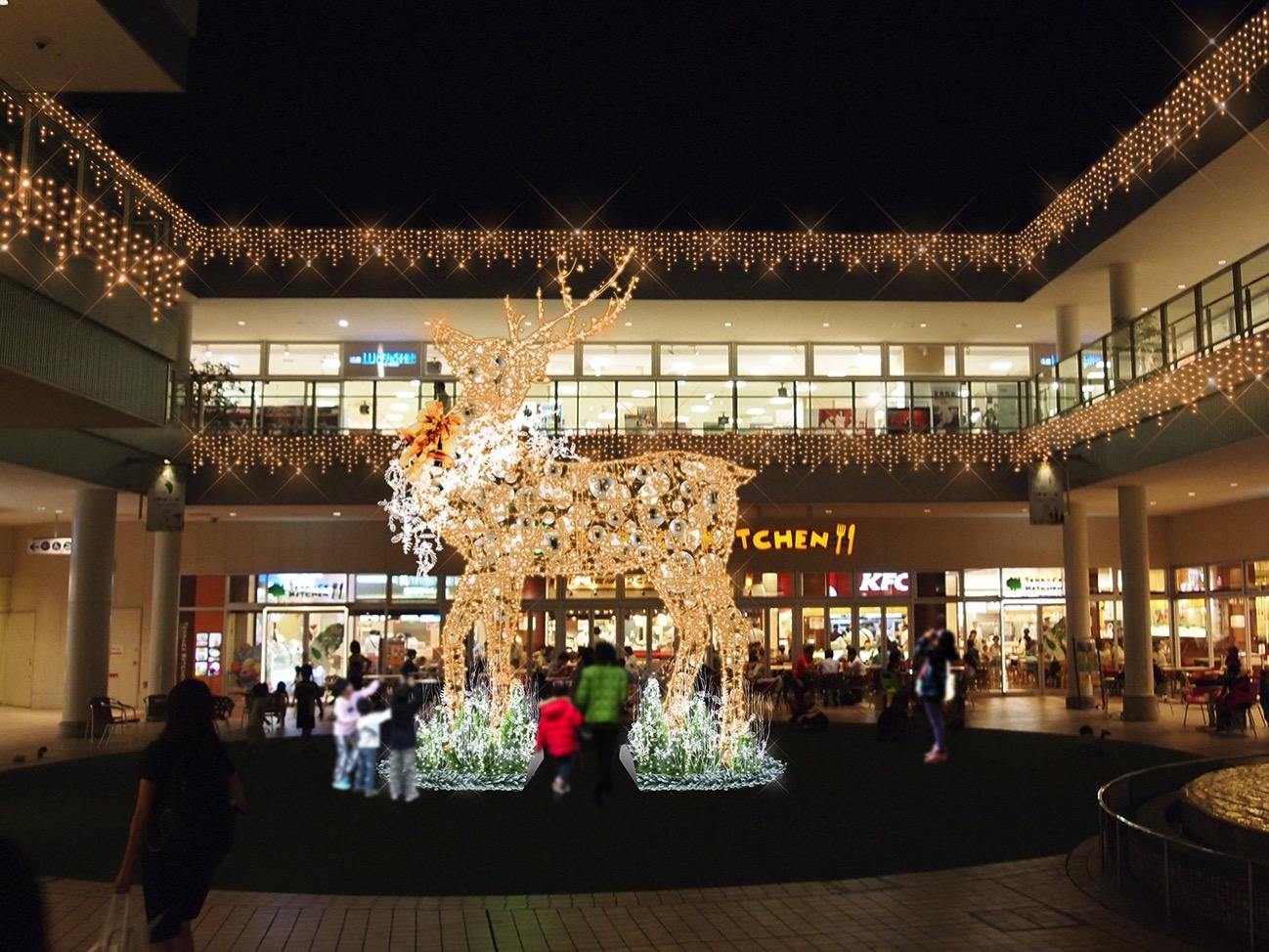 横浜「たまプラーザ テラス」に首都圏最大級のトナカイオブジェがクリスマスに初登場!