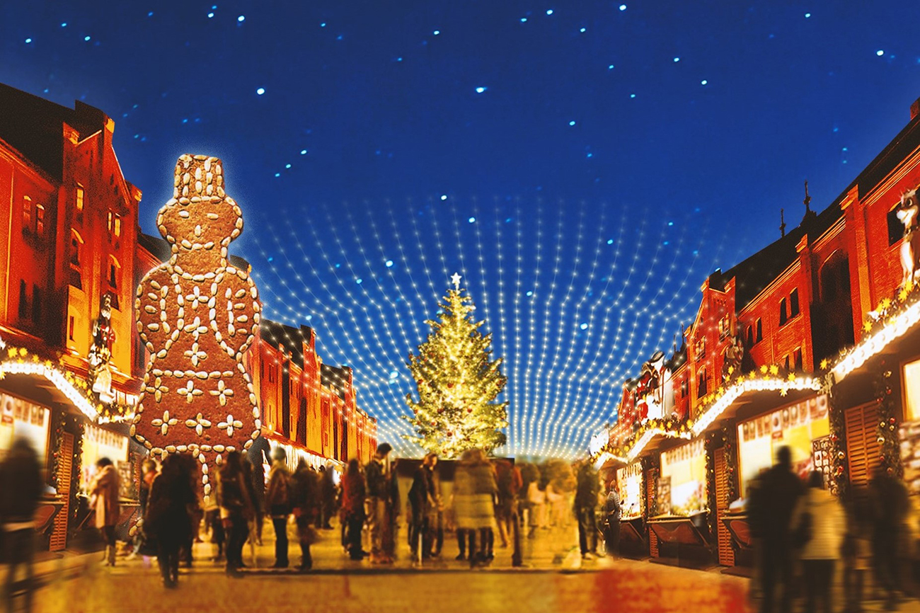 クリスマスマーケット in 横浜赤レンガ倉庫、ドイツの古都をモチーフに開催