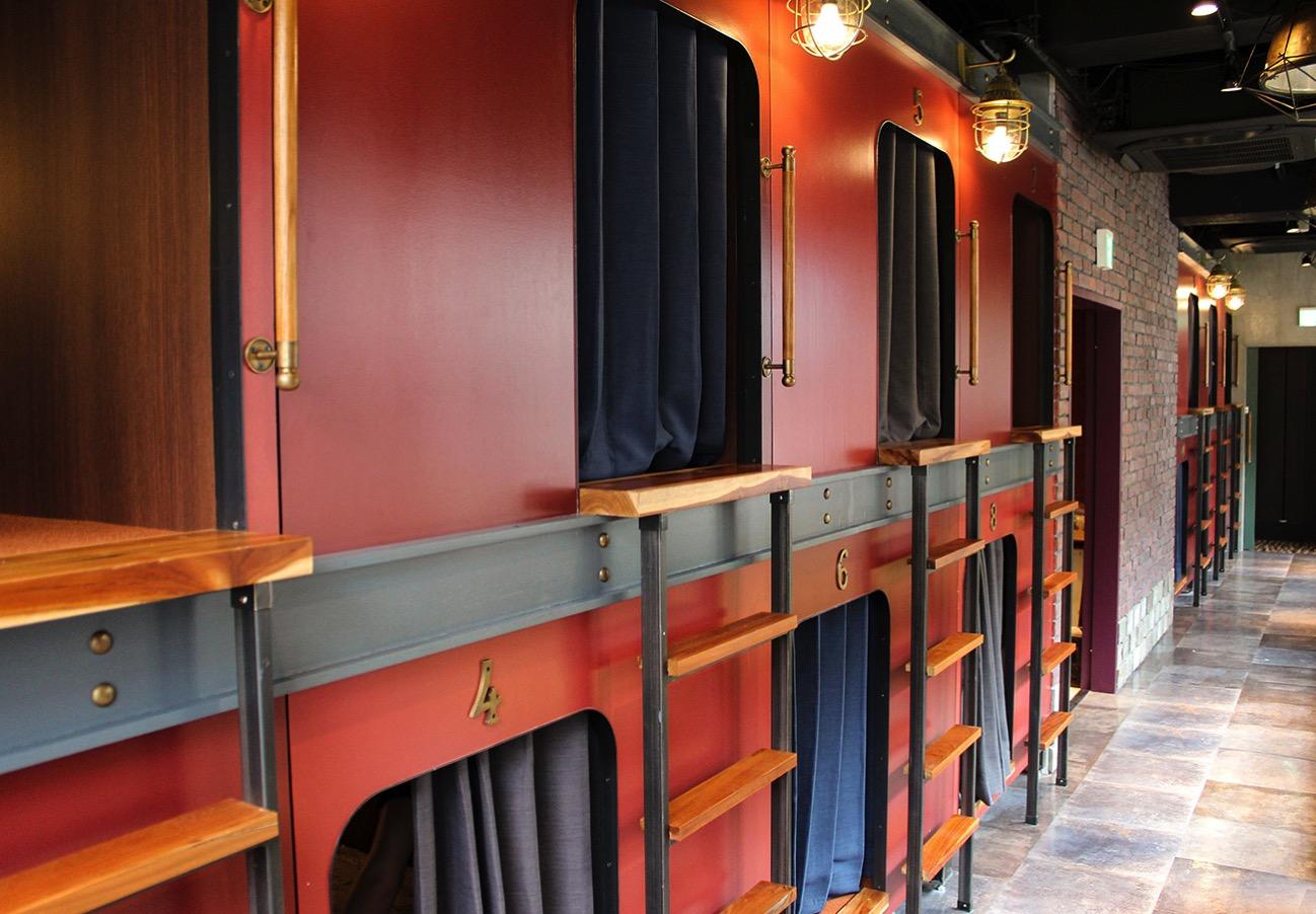 豪華寝台列車をイメージした個空間