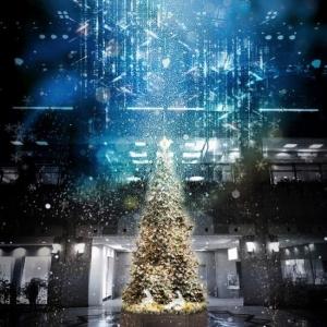 2018年 横浜 ランドマークプラザのクリスマスツリーは降雪復活、ホワイトクリスマスに!
