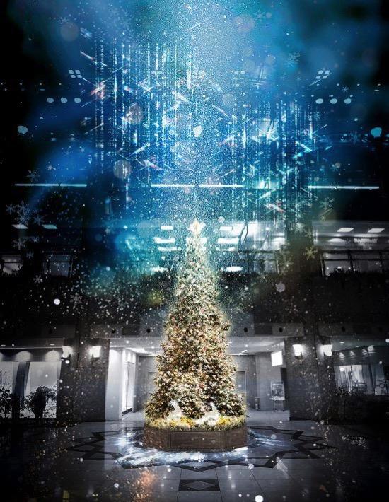2018年 ランドマークプラザのクリスマスツリーは降雪復活、ホワイトクリスマスに!