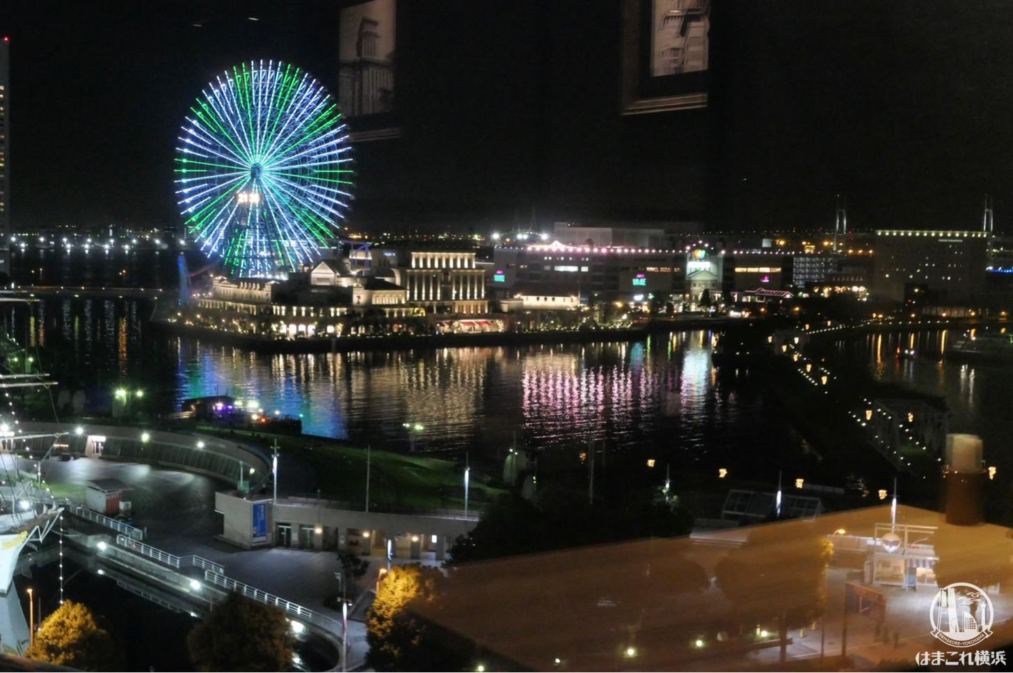 一瑳から見える横浜みなとみらいの夜景