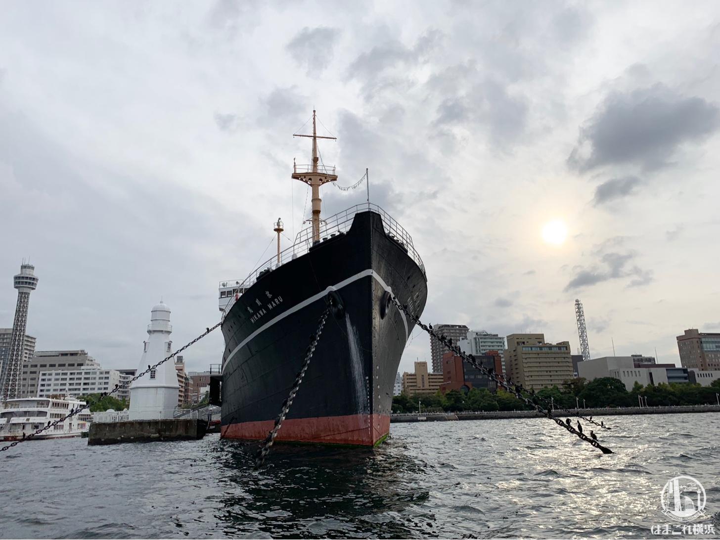 日本郵政氷川丸 船首