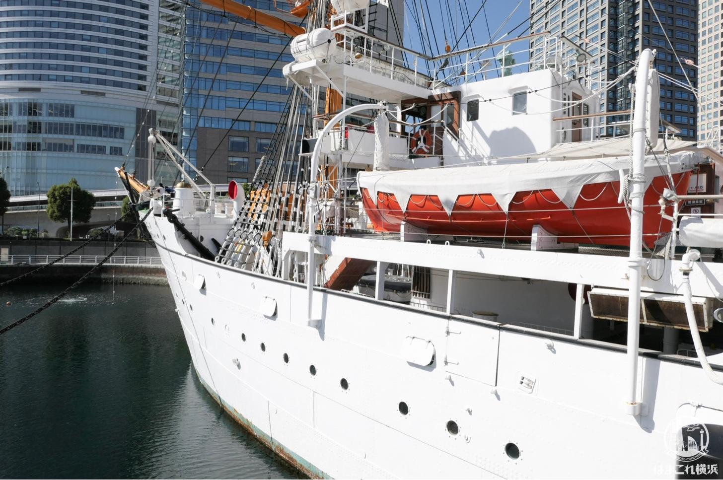 帆船日本丸 船首