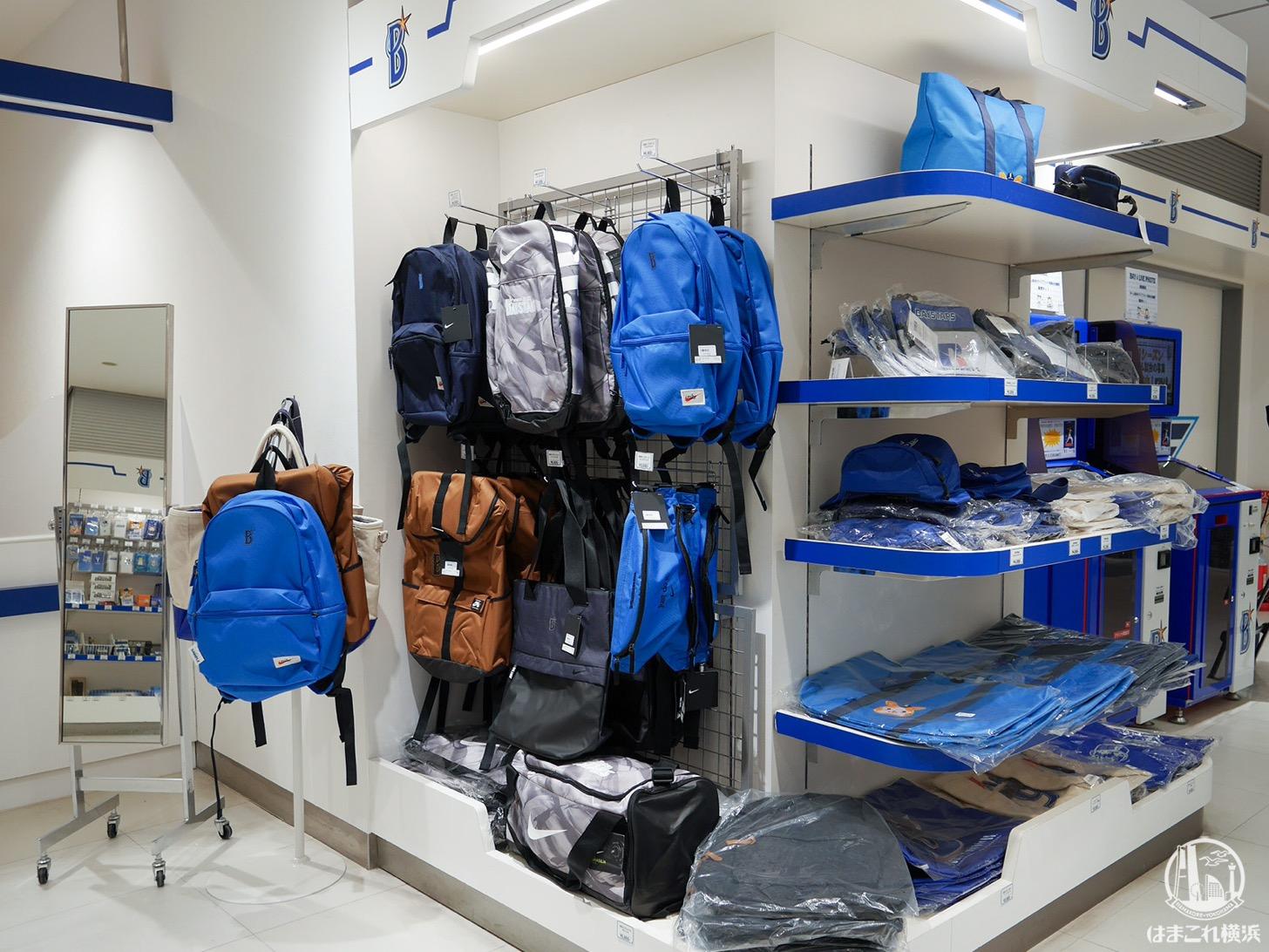レプリカユニホームはもちろん、アパレル、バッグやなども充実