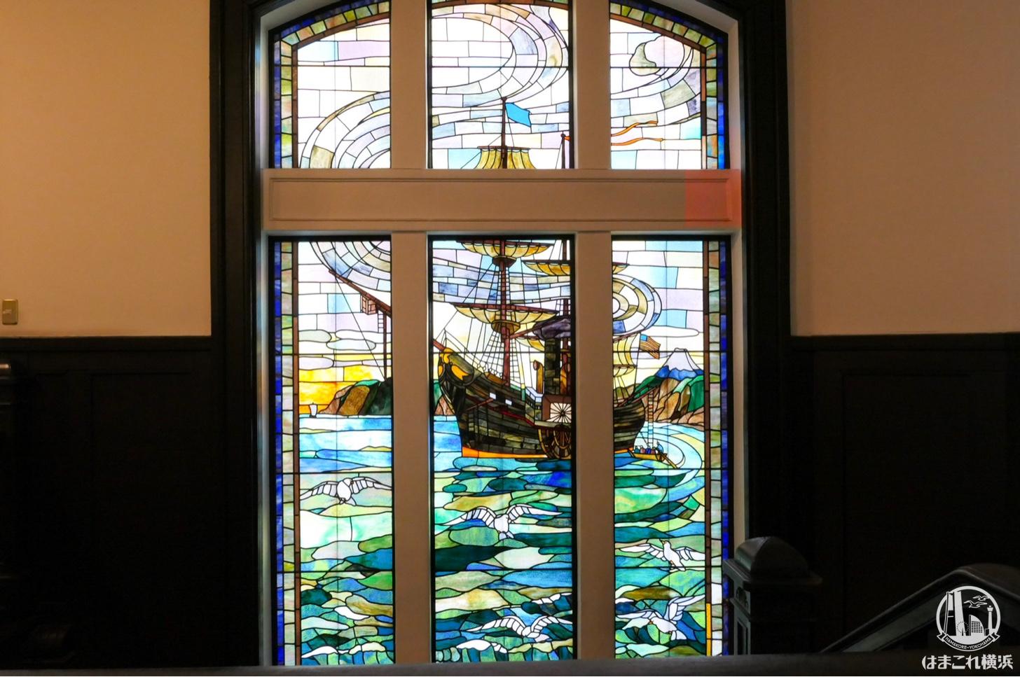 横浜市開港記念会館(ジャック)ステンドグラス