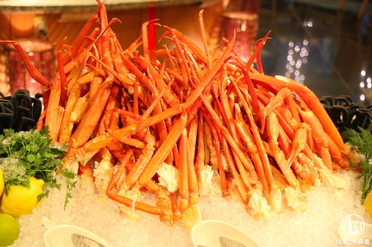 横浜ベイホテル東急 蟹やイクラなど北海道の食材揃う人気ディナーブッフェが最高!!