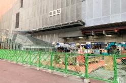 横浜駅西口 駅前広場に通路が新設!地下に続く階段・エスカレーターも