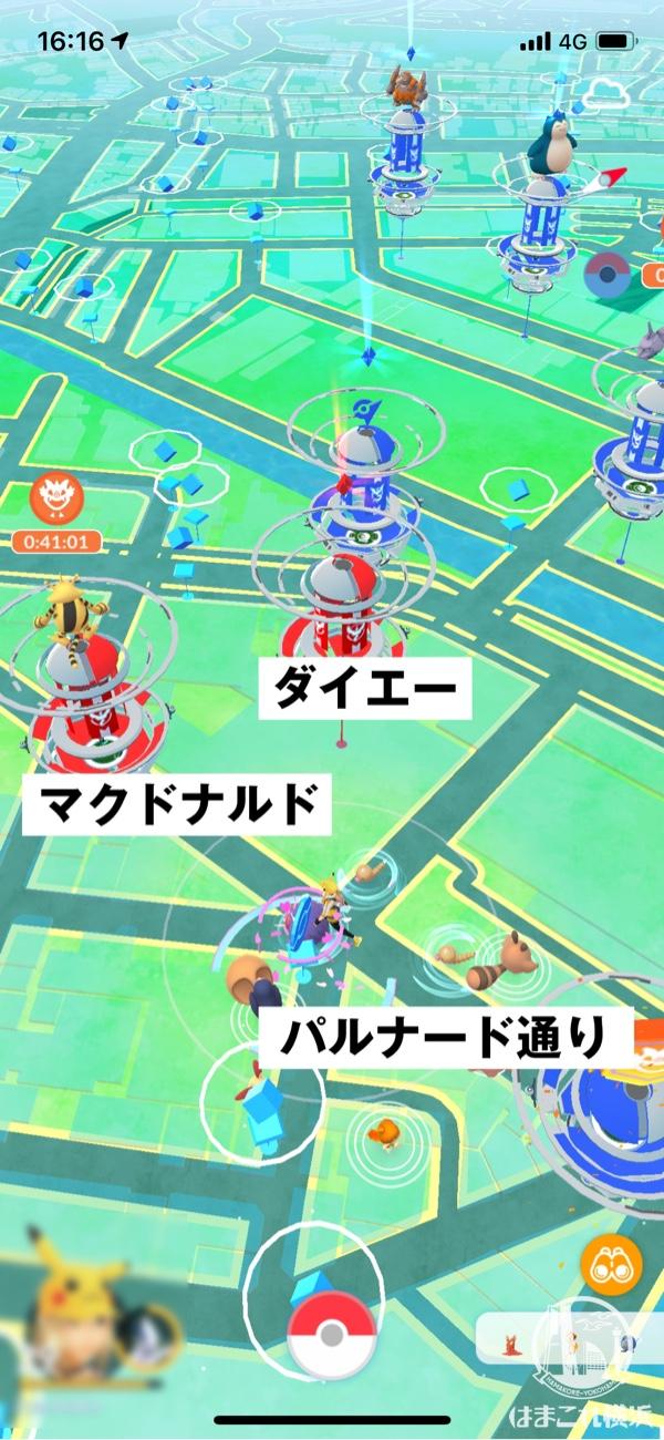 横浜駅西口 ジム・ポケストップ