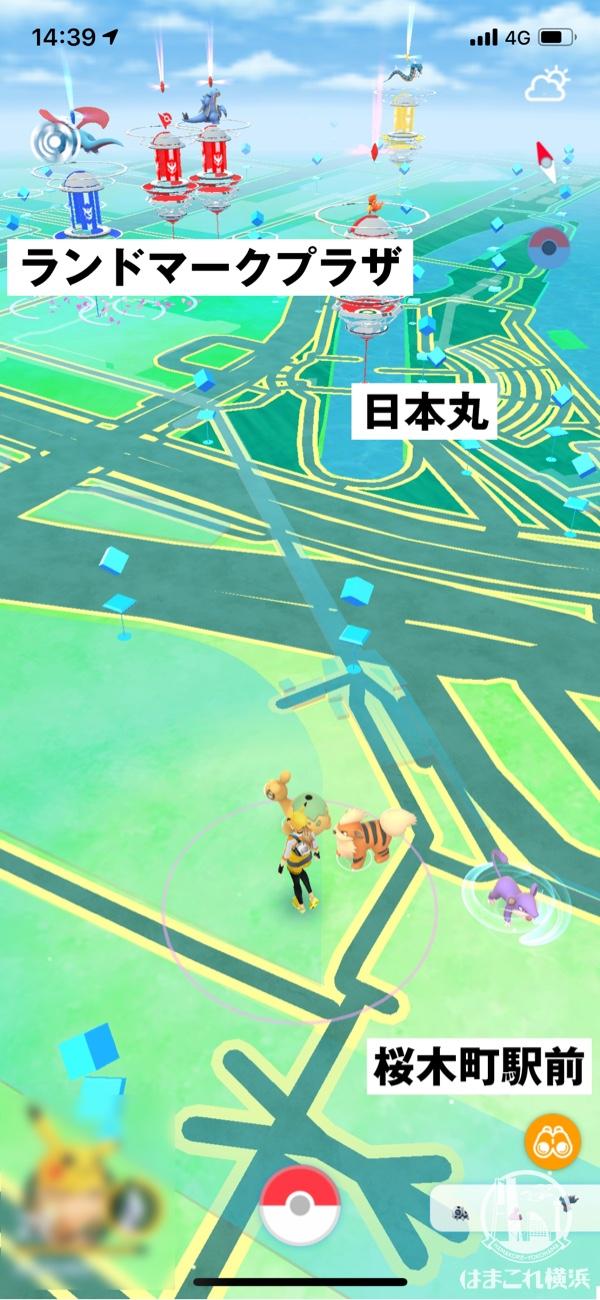 桜木町駅前 ジム・ポケストップ